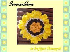 Sonnenblume  Häkelanleitung von berli design meine Häkelwelt für Groß und Klein auf DaWanda.com