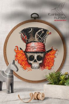 Hand Embroidery Patterns, Ribbon Embroidery, Cross Stitch Art, Cross Stitching, Halloween Cross Stitches, Diy And Crafts Sewing, Modern Cross Stitch Patterns, Colorful Drawings, Crossstitch