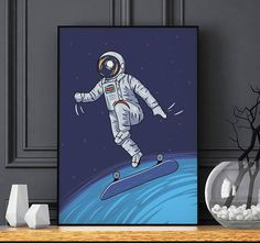 $5.29 Check out this item in my Etsy shop https://www.etsy.com/listing/544437498/space-print-poster-galaxy-print-pdf-boys #space #Spaceman #cosmonaut #Astronaut #illustration #Art #poster #print #galaxy