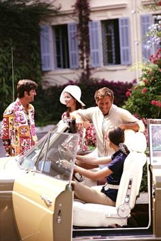 Holidaymakers in France, August 1969. Photo by Slim Aarons.