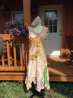 Etsy の ON SALECrochet Boho dress by Luv Lucy by LuvLucyArtToWear