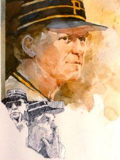 "Chuck Tanner      Watercolor     18"" x 24"""