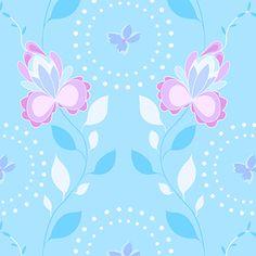 Mo Bedell - Hothouse Flowers - Lobelia Vine in Blue