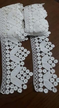 Details about 1 yd Vintage Embroidered Lace Edge Trim Ribbon Wedding Applique DIY Sewing Craft Filet Crochet, Col Crochet, Crochet Trim, Irish Crochet, Crochet Motif, Crochet Doilies, Crochet Stitches, Crochet Edging Patterns, Crochet Borders