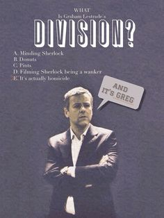 What *is* Lestrade's division?