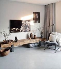 TV furniture from old sleepers with tge frame from samsun . TV furniture from old sleepers with TGE frame from Samsung – # sleepers Living Room Tv, Apartment Living, Home And Living, Decorate Apartment, Room Interior, Interior Design, Tv Furniture, Wooden Living Room Furniture, Rustic Furniture