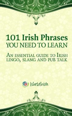 101 Phrases You Need To Know: An essential guide to Irish lingo, slang and pub talk by Mark Farrelly, http://www.amazon.com/dp/B00B1GNXIS/ref=cm_sw_r_pi_dp_kFVarb191H6WV