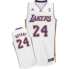 Kobe Bryant Swingman In White Adidas NBA Los Angeles Lakers  24 Men s  Alternate Jersey Nba d47f7f8fc471