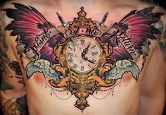 """Mens Chest #Tattoo """"Point Of No Return"""""""