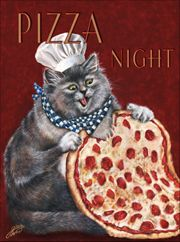 Cat chefs by noted painter Gloria West.