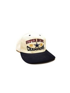 1990s Dallas Cowboys Snap Back Hat Super Bowl Champions Cap NFL Football  Hat Super Bowl Champions Snapback Cap Hip Hop 467dba695