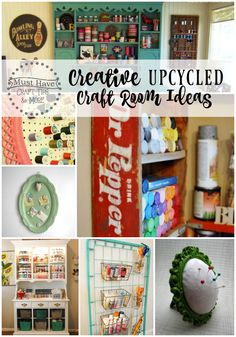 Must Have Craft Tips - Creative Upcycled Craft Room Ideas - Upcycled Home Decor upcycled room ideas Upcycled Home Decor, Repurposed Items, Upcycled Crafts, Upcycled Furniture, Upcycled Vintage, Furniture Ideas, Sewing Room Storage, Craft Room Storage, Craft Organization