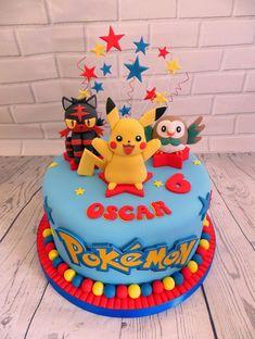 Inspiration Picture of Pokemon Birthday Cakes Pokemon Birthday Cakes Pokemon… - Cake Pokemon Birthday Cake, 6th Birthday Cakes, Cupcake Birthday Cake, Birthday Cake Girls, Birthday Parties, Minion Birthday, Birthday Ideas, Happy Birthday, Cakes Pokemon