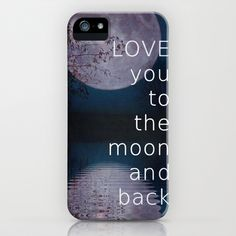 LOVE you to the moon and back iPhone & iPod Case by SUNLIGHT STUDIOS  Monika Strigel - $35.00