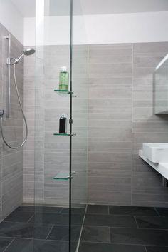 Bathroom Tiles Grey And White i like this shower! gray tile, tiny subway tiles, built-in shelves