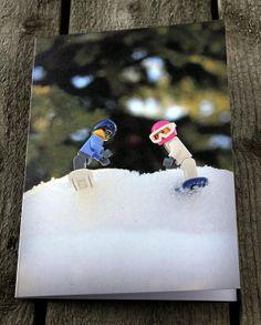 Yay, for Team U.S.A ~ a fun photo card to send to your snow sport buddy!