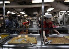 Sailors assigned to the supply department's S-2 Division serve Sailors from the aft galley aboard the Nimitz-class aircraft carrier USS Carl Vinson (CVN-70). Carl Vinson and Carrier Air Wing (CVW) 17. #Navy #USNavy #AmericasNavy navy.com
