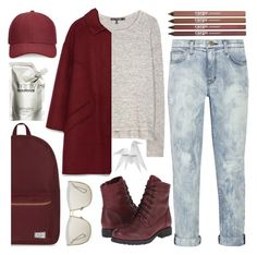 """""""One of those dreary days..."""" by sweet-jolly-ranchers ❤ liked on Polyvore featuring Herschel Supply Co., rag & bone, Zara, Current/Elliott, CARGO, Chinese Laundry, Whistles, Christian Dior, Hermès and Prtty Peaushun"""