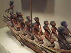 Model Boat Egypt Middle Kingdom, 11th to 12th Dynasty,  2134-1784 BC.