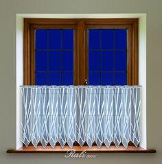 Doris, bílá záclona výška 50cm metráž - RALI Decor, s.r.o. - bytový textil, záclony a povlečení