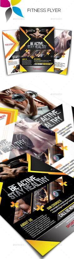 Fitness Flyer Template Flyer template, Adobe photoshop and Adobe