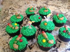 Field hockey cupcakes