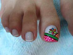 Pies Cute Toe Nails, Cute Toes, Pretty Toes, Toe Nail Art, Love Nails, Pedicure Designs, Toe Nail Designs, Cute Pedicures, Painted Toes