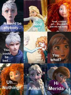 Another jelsa story part 3 / Merida, Elsa, Jack Frost, Anna, Rapunzel, Hiccup /