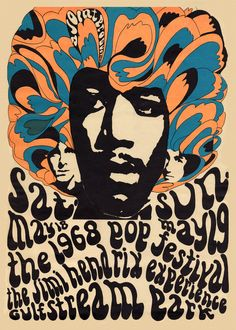 Concert Poster The Miami Pop Festival, 1968