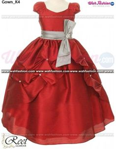 Dress up your angel this Exquisite Maroon Kids Gown from Reet Glamour is a  must- cbd609a8ff98