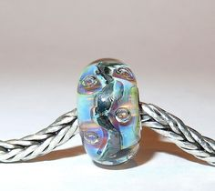 Luccicare Lampwork Bead - Nebula Bubbles -  Lined with Sterling Silver by Luccicare on Etsy