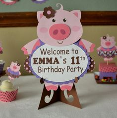 Niño cerdo cumpleaños fiesta decoraciones por bcpaperdesigns