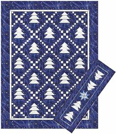Seasonal quilt pattern for bed quilt, wall hanging and table runner