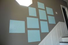 Create a gallery wall template for $1. All you need is contact paper and scissors and you are ready to create a gallery wall without filling it your wall with holes.