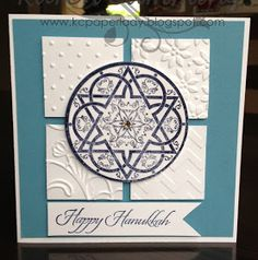 PaperLady: 12 Days of Christmas - Day 11 Happy Hanukkah Card