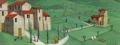 PROIETTI Norberto Naive Art, Outsider Art, Folk Art, Cities, Buildings, Clip Art, American, Painting, Image