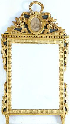 ELEGANTER GROSSER SPIEGEL LOUIS XVI UM 1780 KLASSIZISMUS Wandspiegel