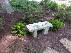 DIY handmade concrete bench