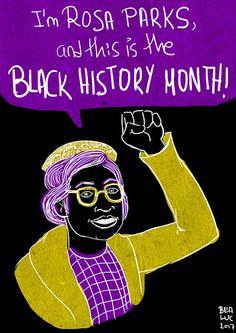 Rosa Parks (Black History Month) | por BeaLuc aka Loony Rotten Rosa Parks, Black History Month, Artists, Black History Month People