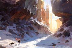 ArtStation - 雪地, wang tian