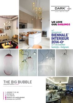 Interieur Kortrijk Belgium 2014  DARK || BIG / BABY BUTTON     The BUBBLE combines magic, whimsy and style in a single design. Each piece is a unique, artisanal, hand-blown glass bubble.  HALL 3 / 322 #interieurawards #interieur14 #interieurbiennale #kortrijk @covetlounge