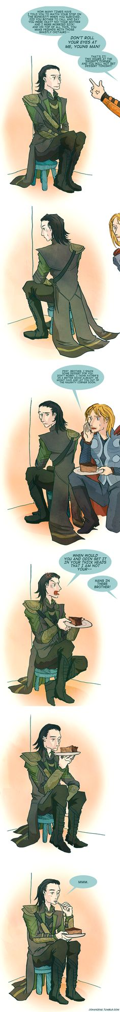 Asgardian justice by johanirae.deviantart.com on @deviantART <<--Hehehe #lokifanart