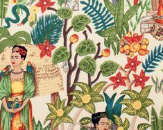 Frida Kahlo tela té de jardín de Frida Alexander Henry