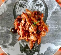 Πένες φούρνου, σάλτσα ντομάτας, μοτσαρέλα & βασιλικός | Pandespani Penne, Pasta, Aquafaba, Bechamel, Prosciutto, Lasagna, Shrimp, Meat, Food