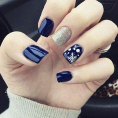 Winter Nail Designs, Christmas Nail Designs, Nail Art Designs, Christmas Design, Christmas Ideas, New Year's Nails, Hair And Nails, Holiday Nails, Christmas Nails
