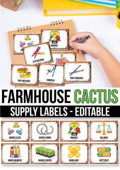 Editable Classroom Supply Labels with Pictures, Cactus Classroom Decor Classroom Jobs, Classroom Bulletin Boards, Classroom Supplies, Classroom Resources, Classroom Organization, Classroom Decor, School Supplies, Teaching Resources, Teaching Ideas