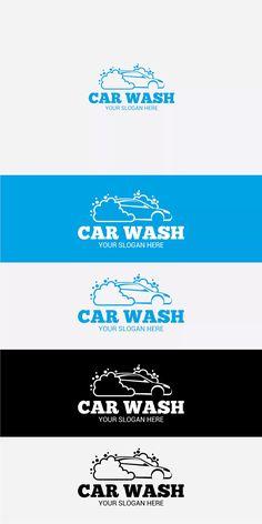 CAR WASH Logo Template AI, EPS