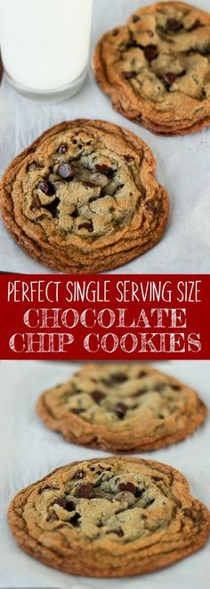 Chocolate cookies recipes, anyone? This Perfect Single Serving Size Chocolate Chip Cookies is absolutely the most perfect chocolate chip cookie recipe! Easy cookie recipe you can indulge in a single serving! For more easy food recipes, creative craft ideas, easy home decor and DIY projects, check us out at #no2pencil. #food #foodlover #sweettooth #recipeoftheday #recipeideas