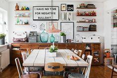 [Deco] Una cocina de look industrial nórdico a todo color | Decoración