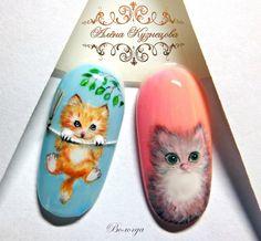 Photo Autumn Nails, Nail Inspo, Cute Nails, Nail Designs, Nail Art, Cartoon, Painting, Animals, Work Nails